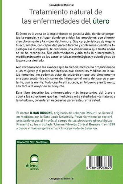 UTERO - TRATAMIENTO NATURAL DE LAS ENFERMEDADES DEL